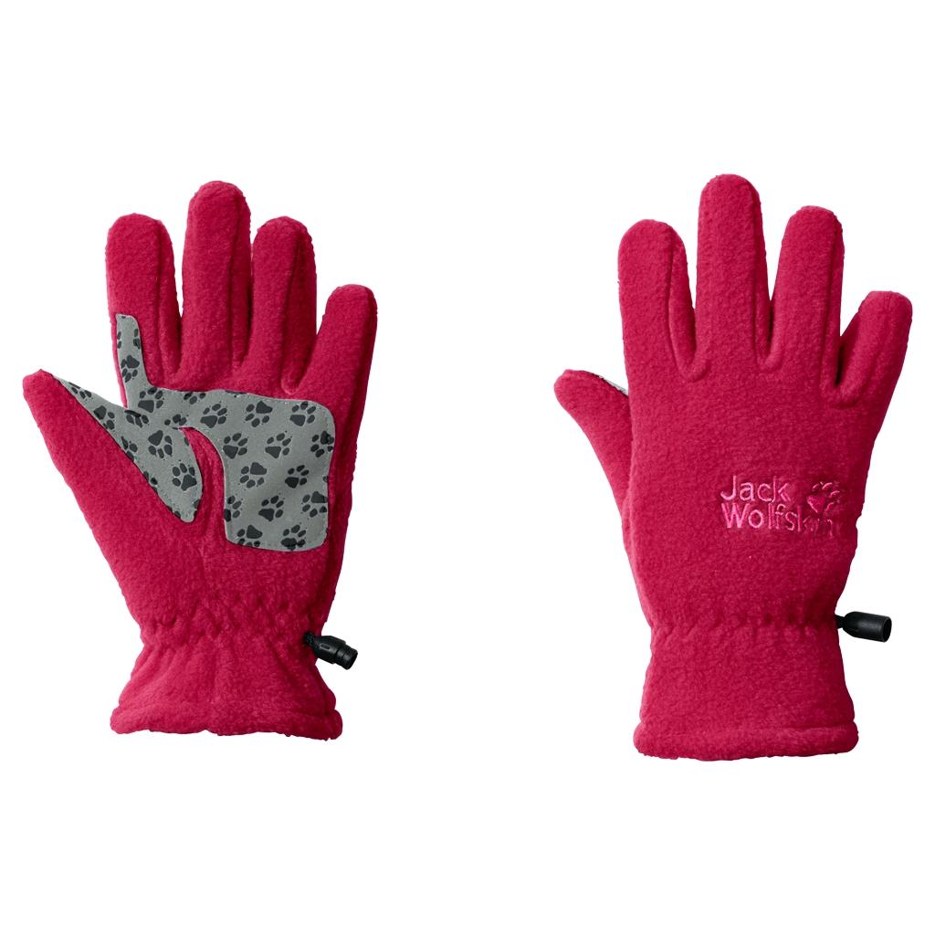 Jack Wolfskin Fleece Glove Kids azalea red-30