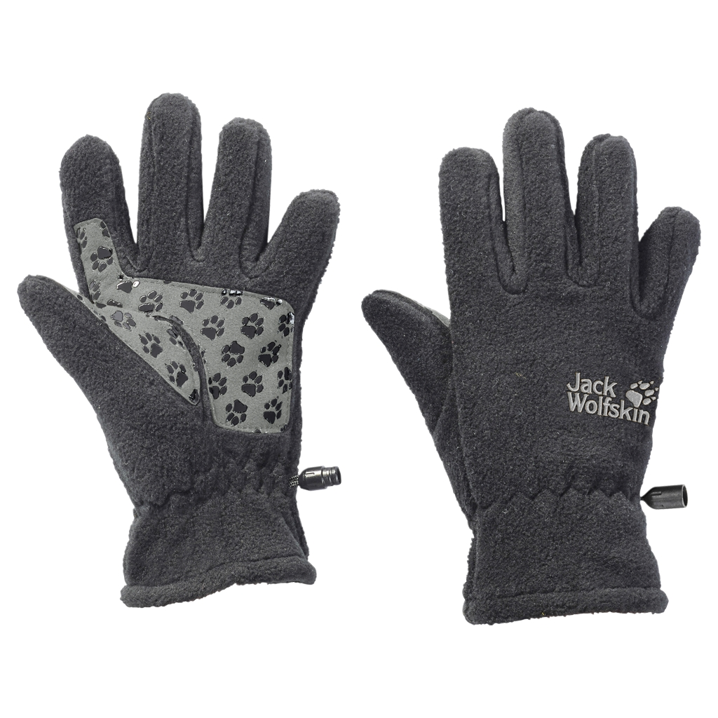 Jack Wolfskin Fleece Glove Kids grey heather-30