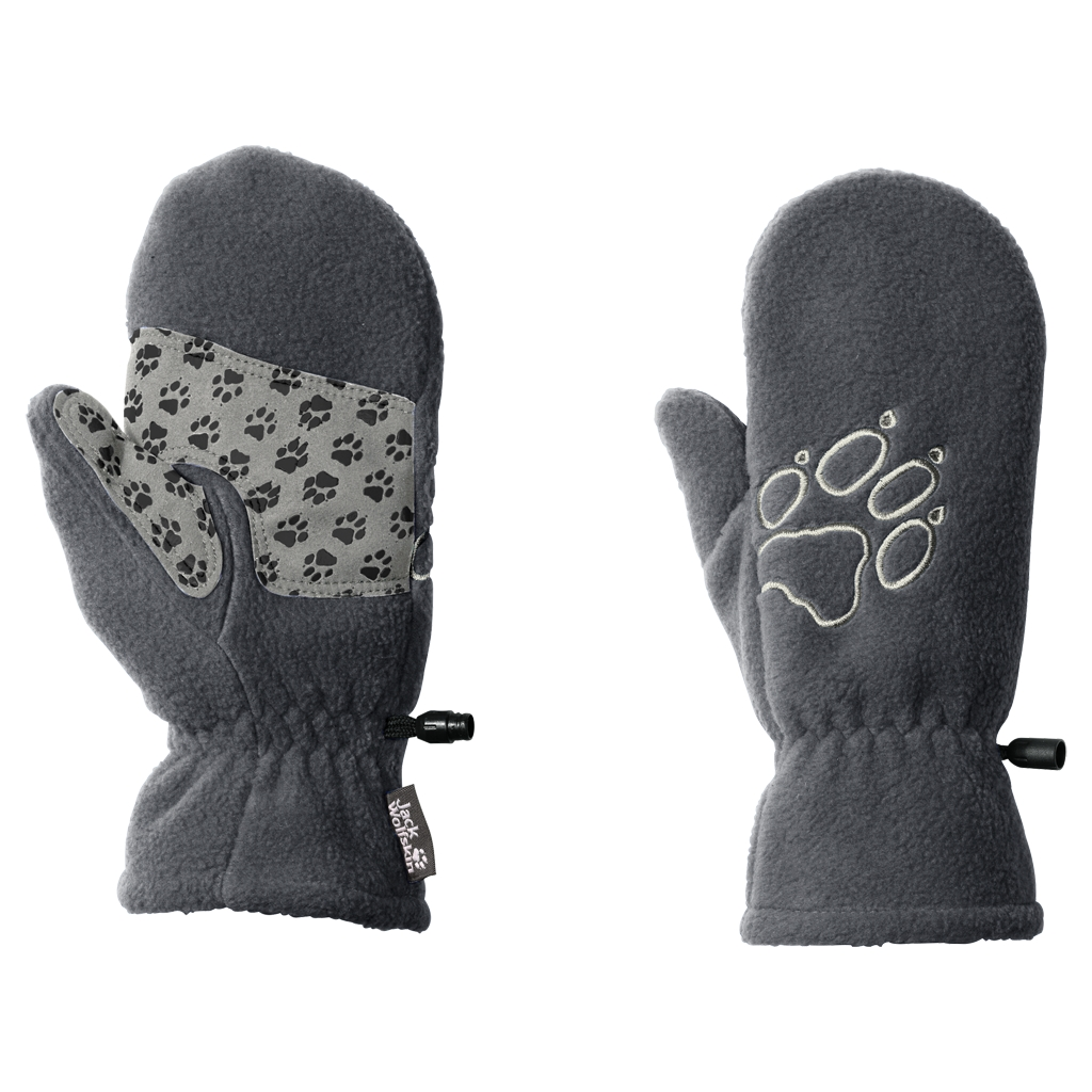 Jack Wolfskin Fleece Mitten Kids grey heather-30