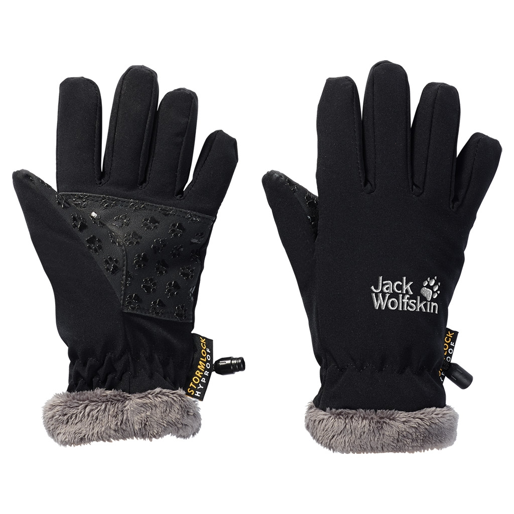 Jack Wolfskin Softshell Highloft Glove Kids black-30