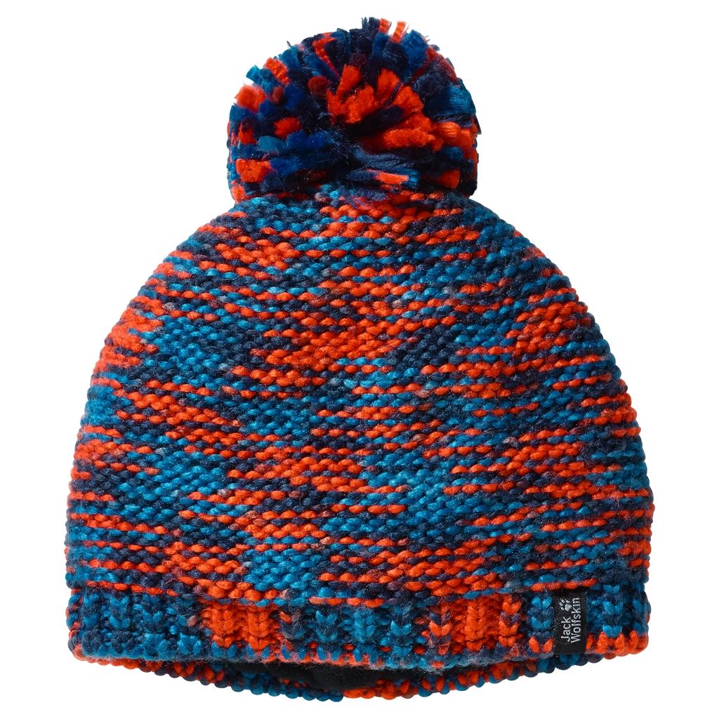 Jack Wolfskin Kaleidoscope Knit Cap Kids glacier blue-30