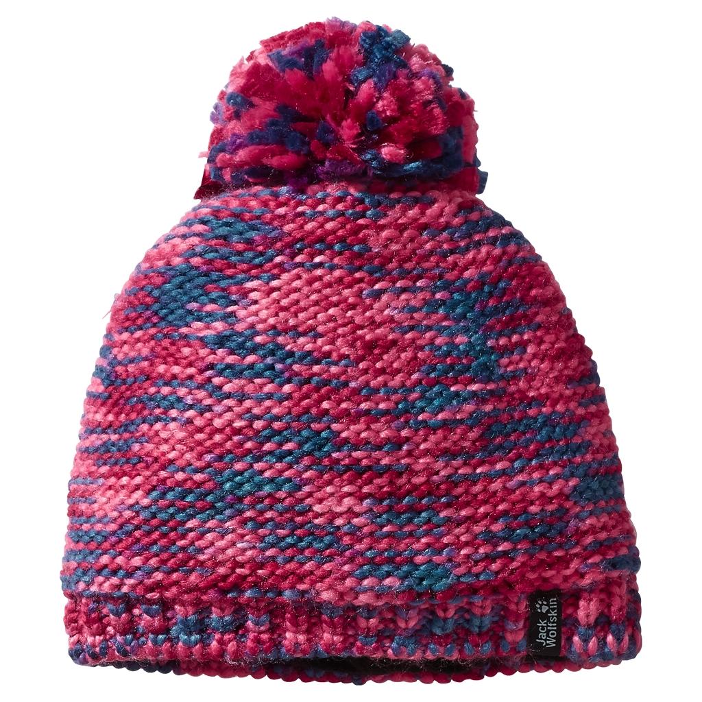 Jack Wolfskin Kaleidoscope Knit Cap Kids azalea red-30