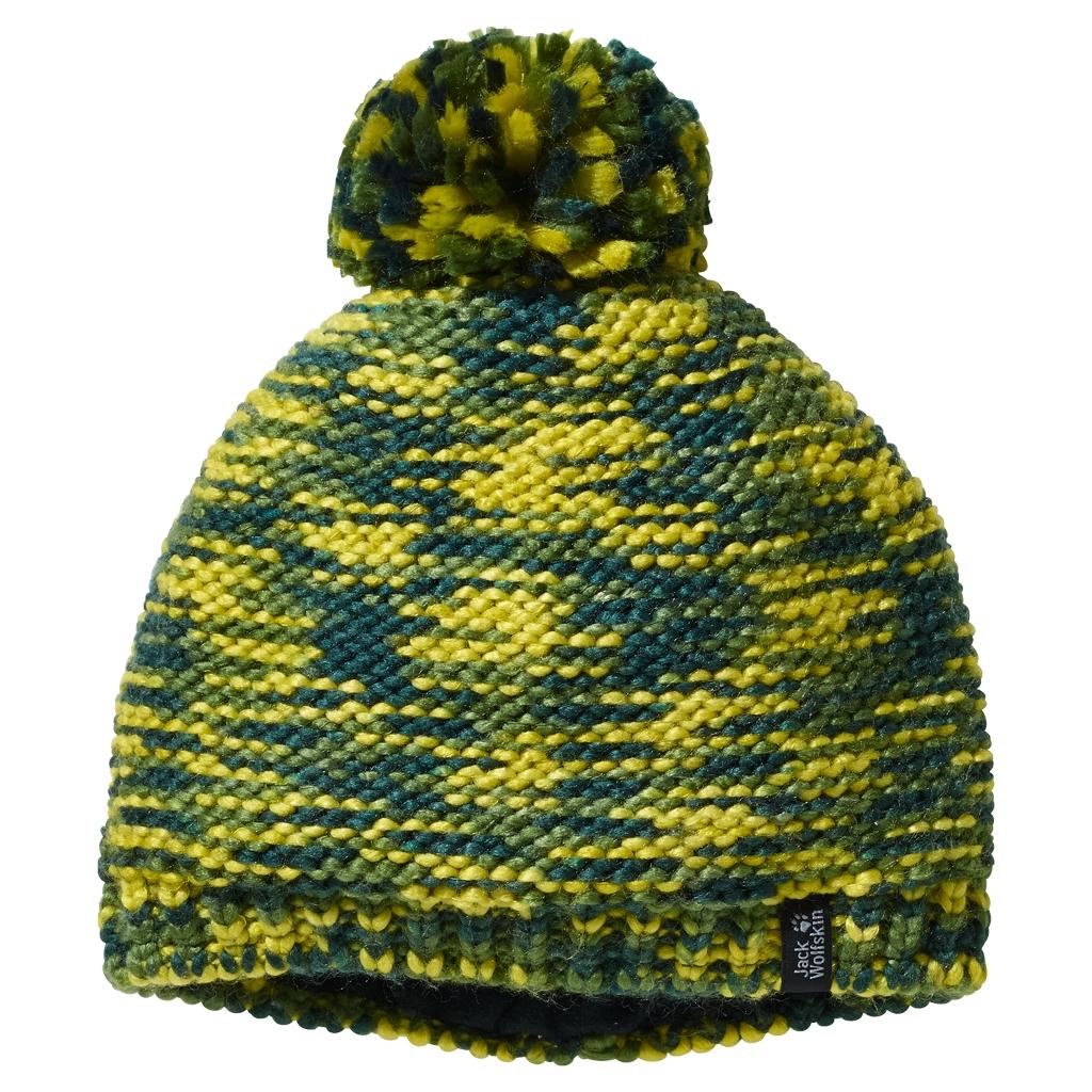 Jack Wolfskin Kaleidoscope Knit Cap Kids deep forest-30