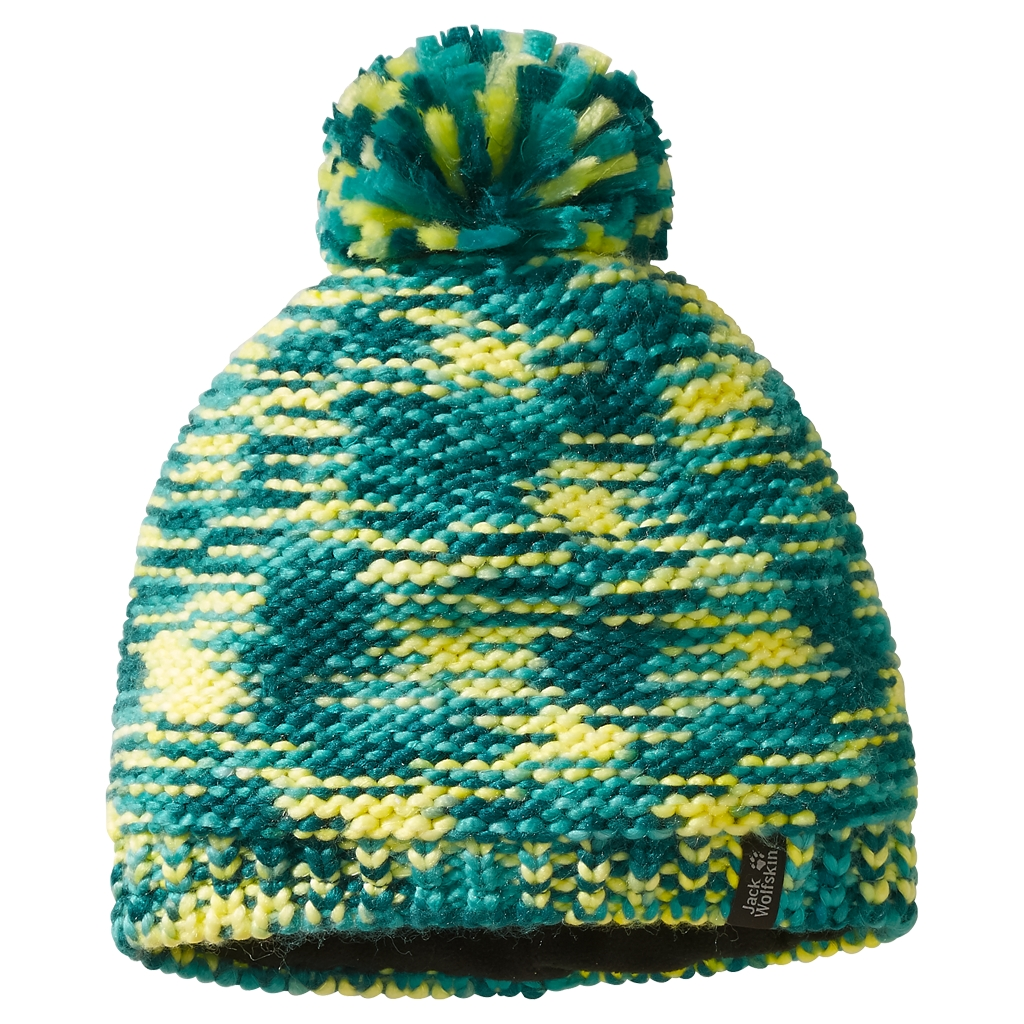 Jack Wolfskin Kaleidoscope Knit Cap Kids spearmint-30