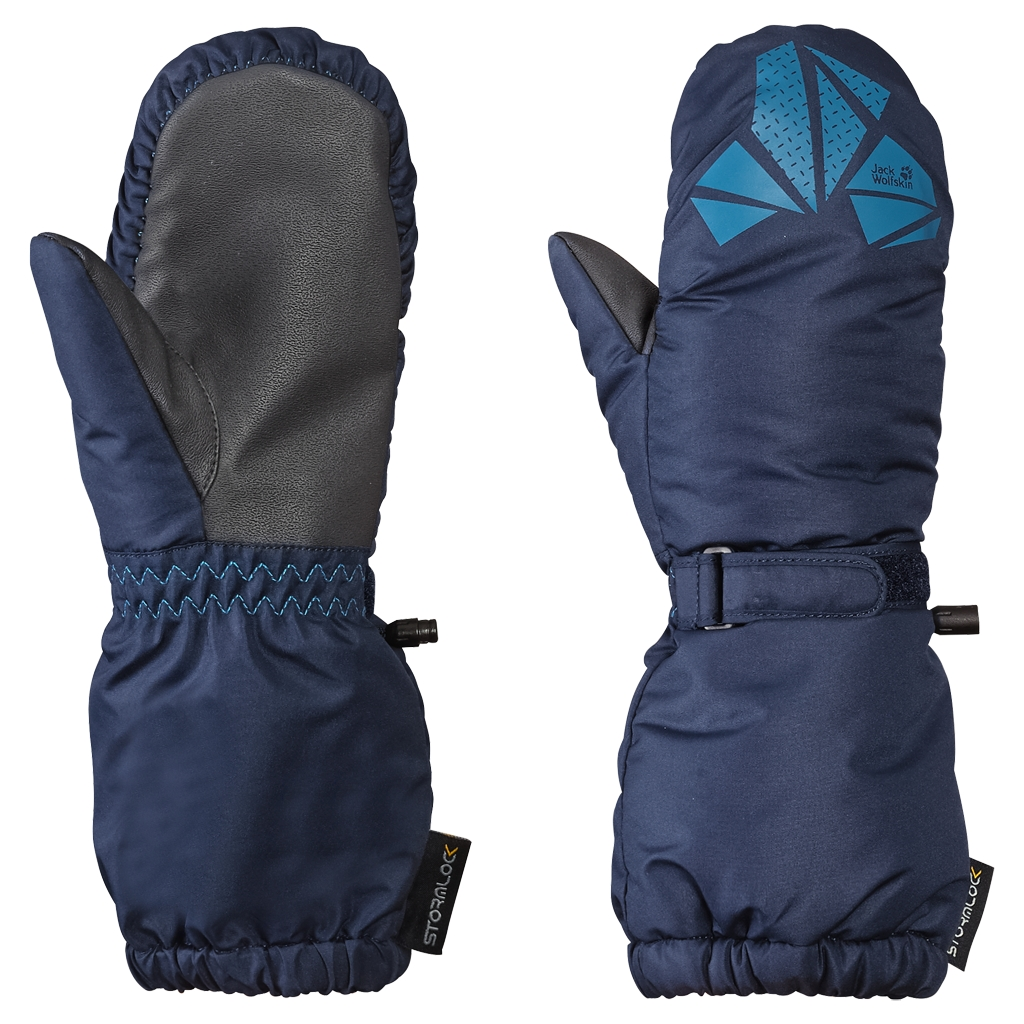 Jack Wolfskin Diamond Stormlock Mitten Kids night blue-30
