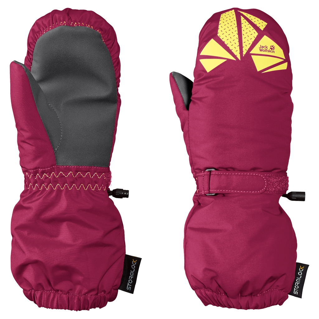 Jack Wolfskin Diamond Stormlock Mitten Kids azalea red-30