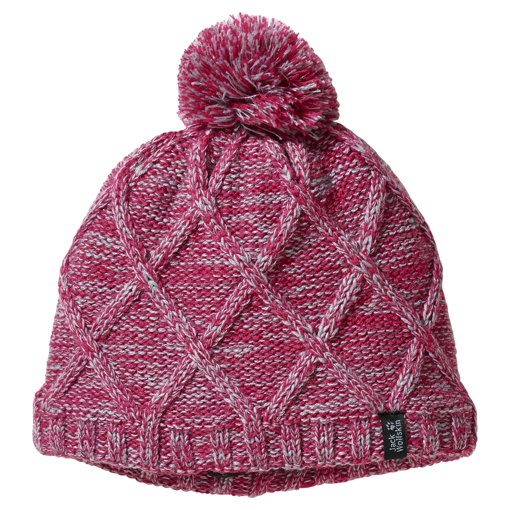 Jack Wolfskin Stormlock Knit Cap Kids azalea red-30