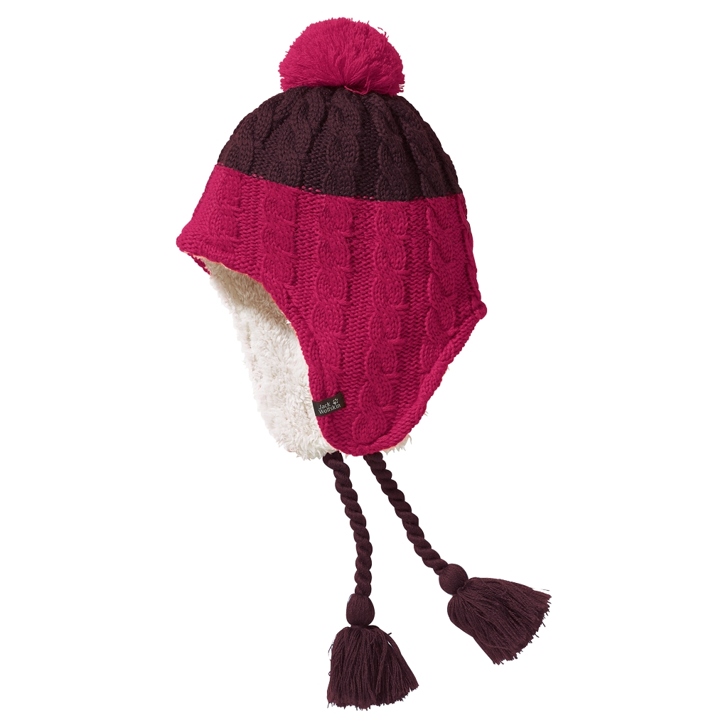 Jack Wolfskin Polar Bear Knit Hat Kids dark berry-30