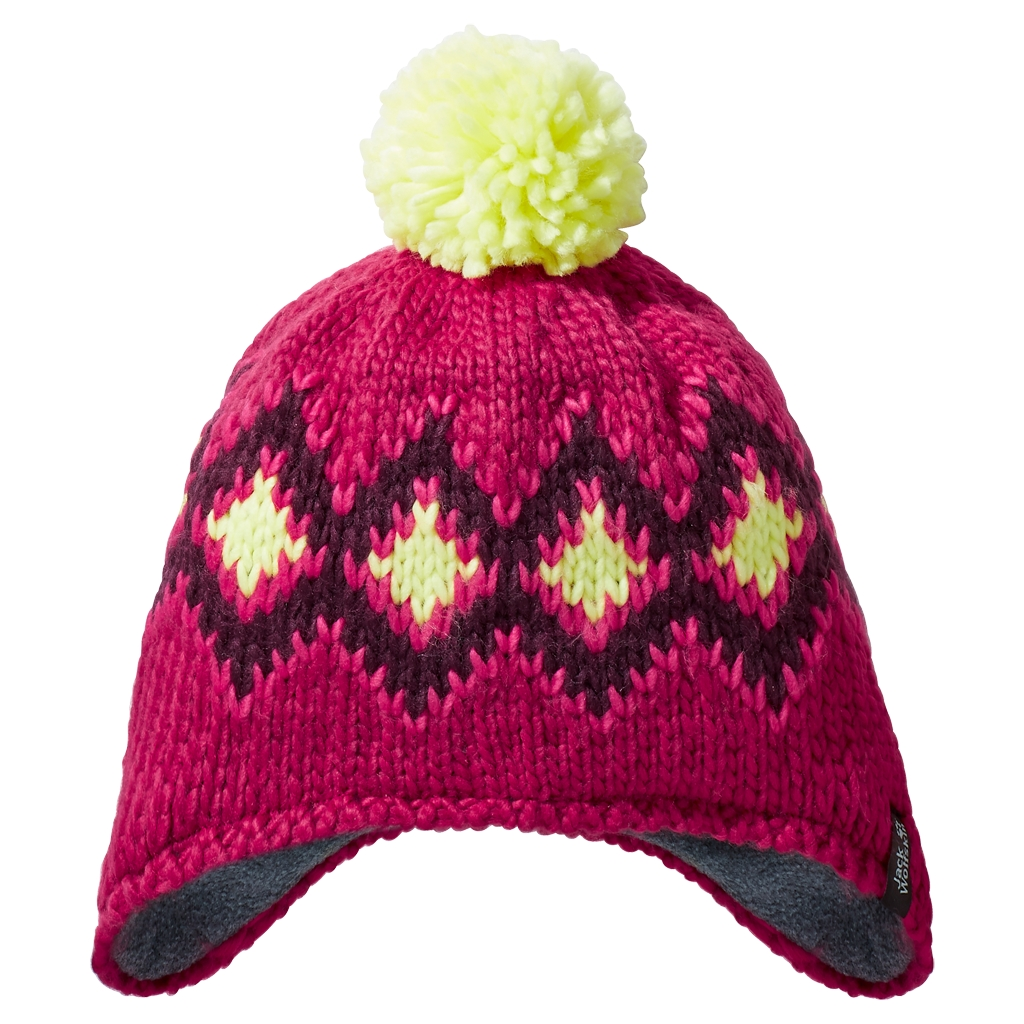 Jack Wolfskin Diamond Knit Cap Kids azalea red-30