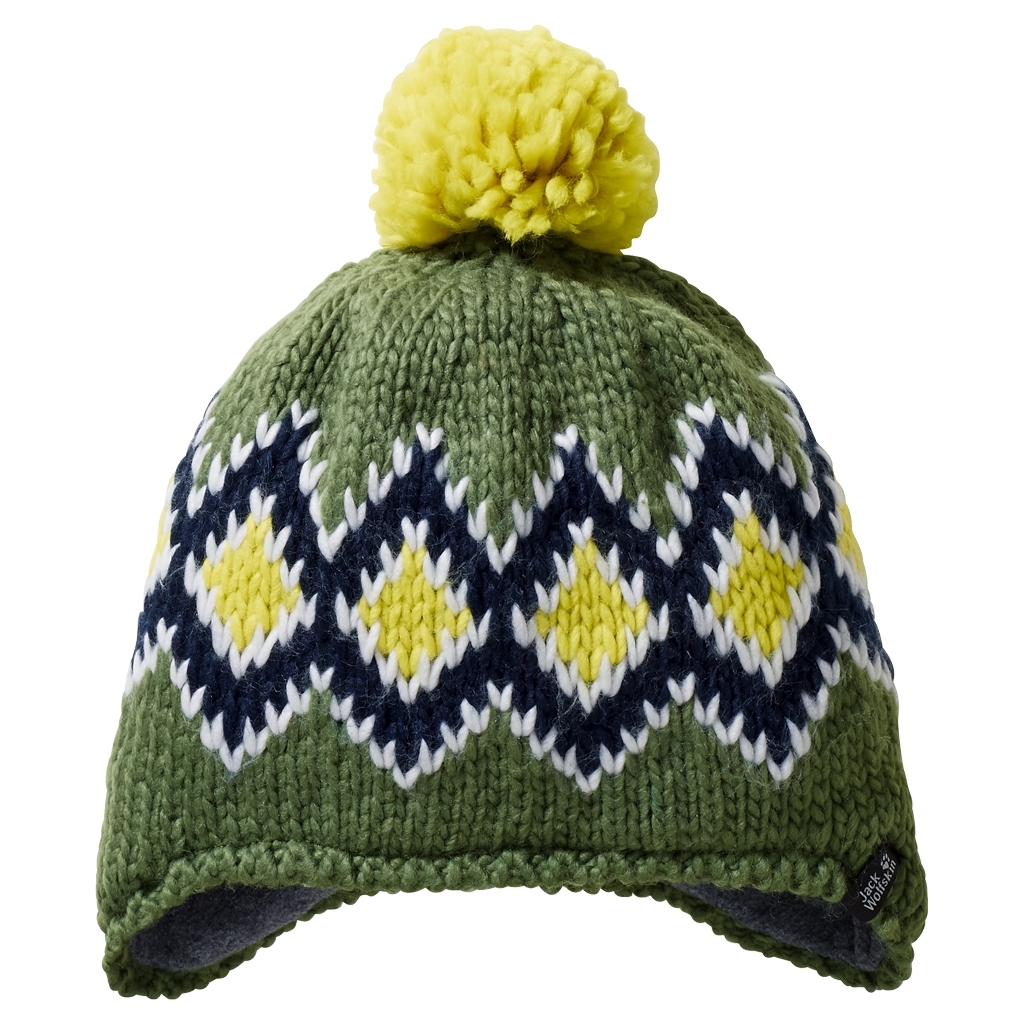 Jack Wolfskin Diamond Knit Cap Kids deep forest-30