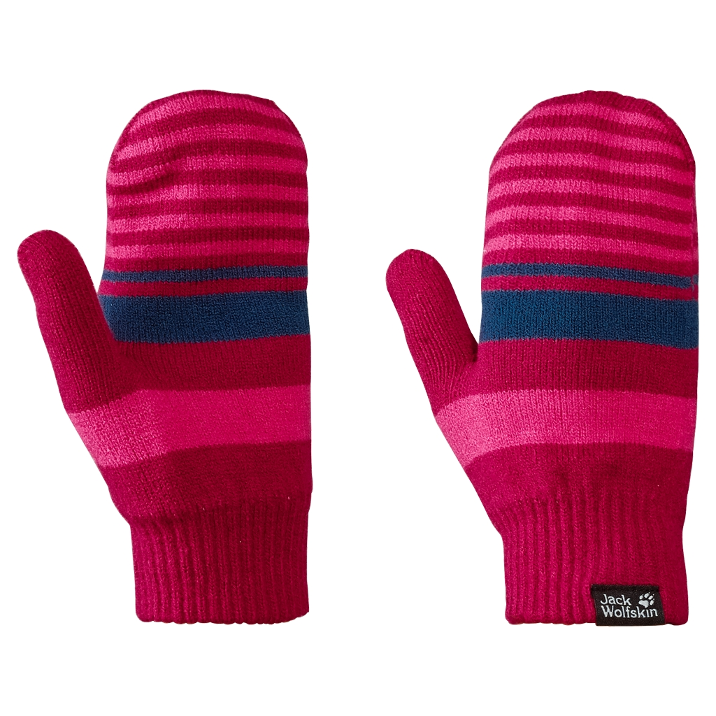 Jack Wolfskin Cross Knit Mitten Kids azalea red-30