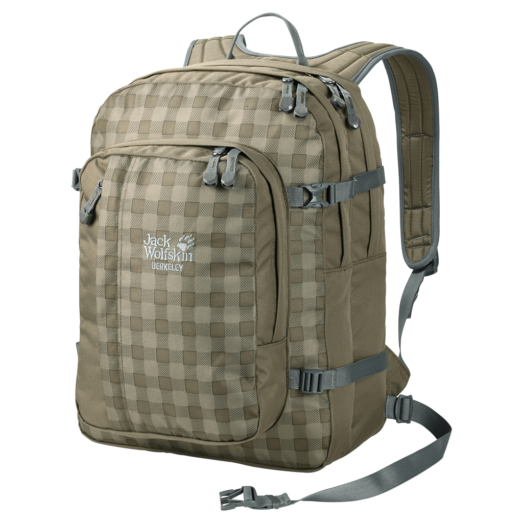 Jack Wolfskin Berkeley burnt olive classic check-30