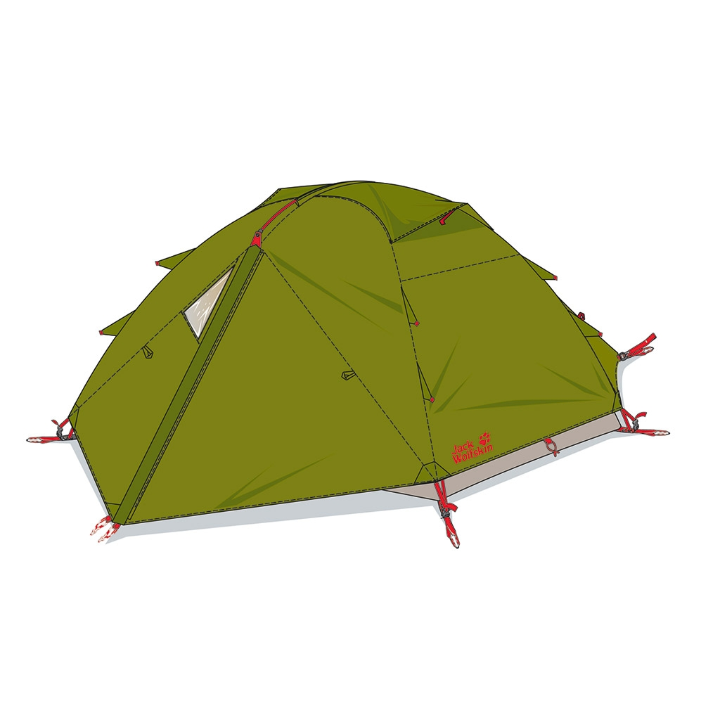 Jack Wolfskin Eclipse Ii green tea-30