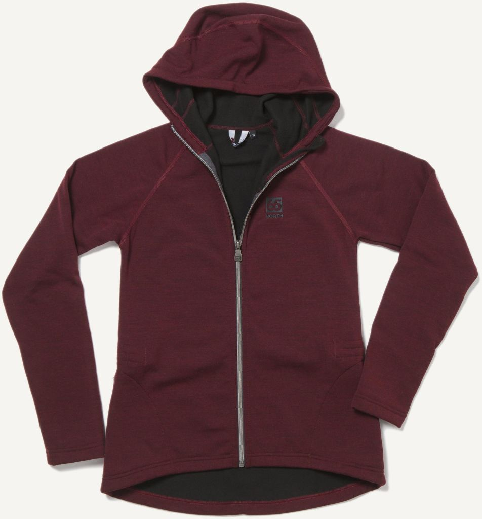 Kjölur Light Knit Women´s Hooded Jacket Burgundy-30