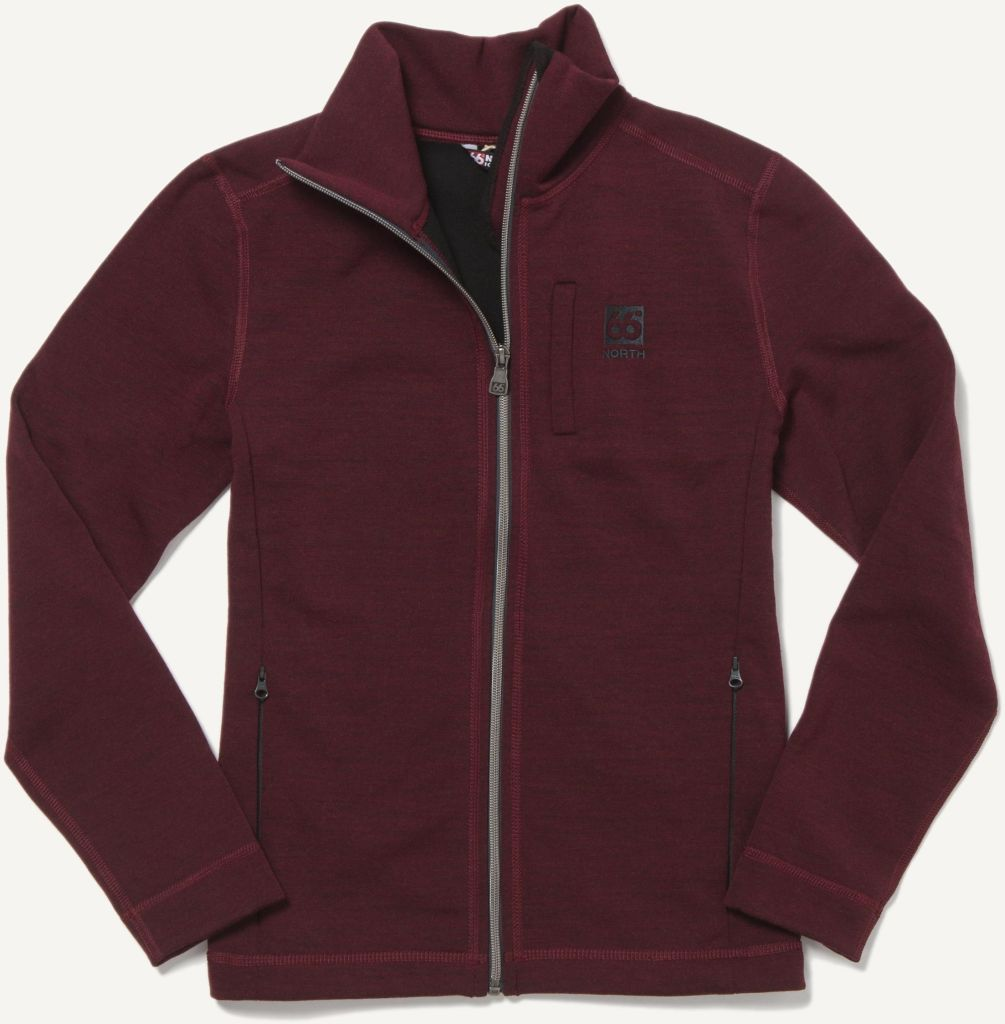 Kjölur Women´s Light Knit Jacket Burgundy-30