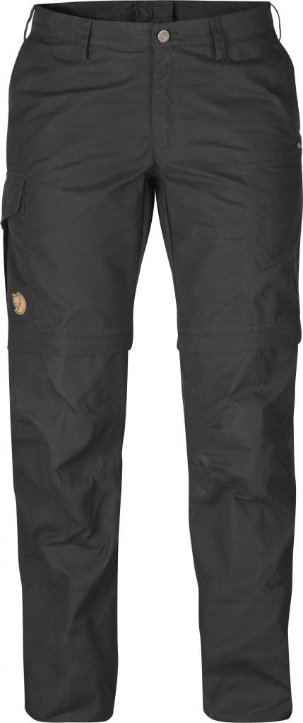 FjallRaven - Karla Zip-Off Trousers Dark Grey - Zip-Off Pants - 48