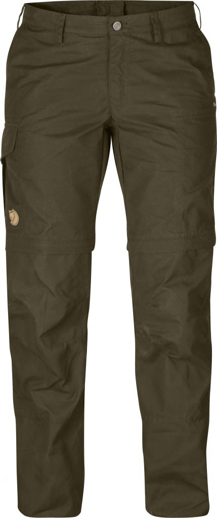 FjallRaven Karla Zip-Off Trousers Dark Olive-30