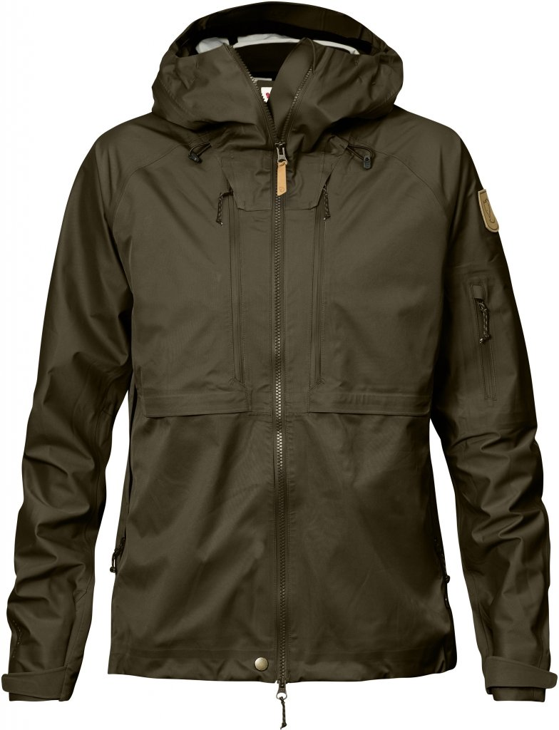 FjallRaven Keb Eco-Shell Jacket W Dark Olive-30