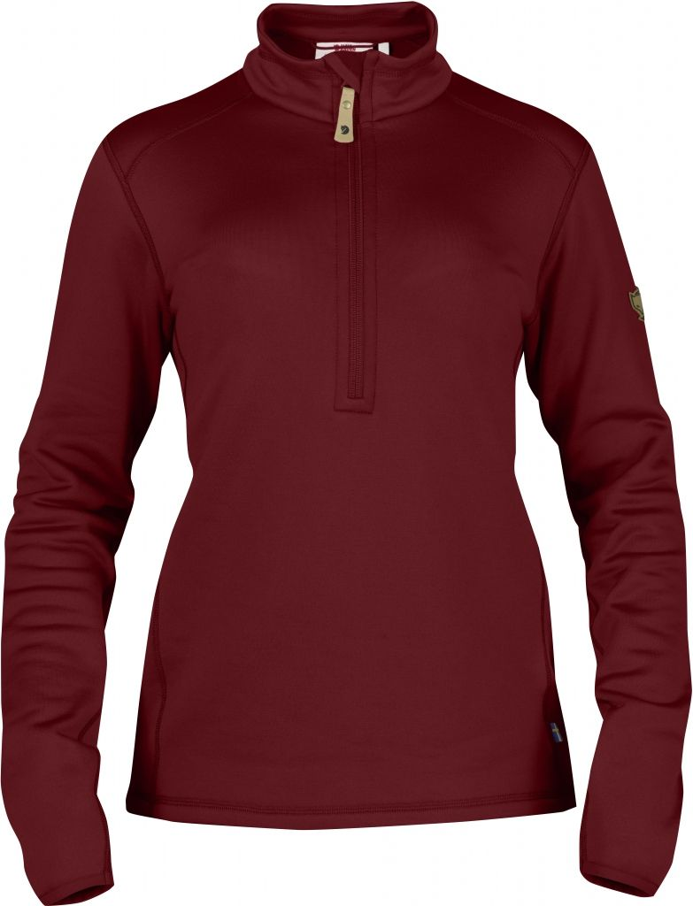 FjallRaven Keb Fleece Half Zip W. Ox Red-30
