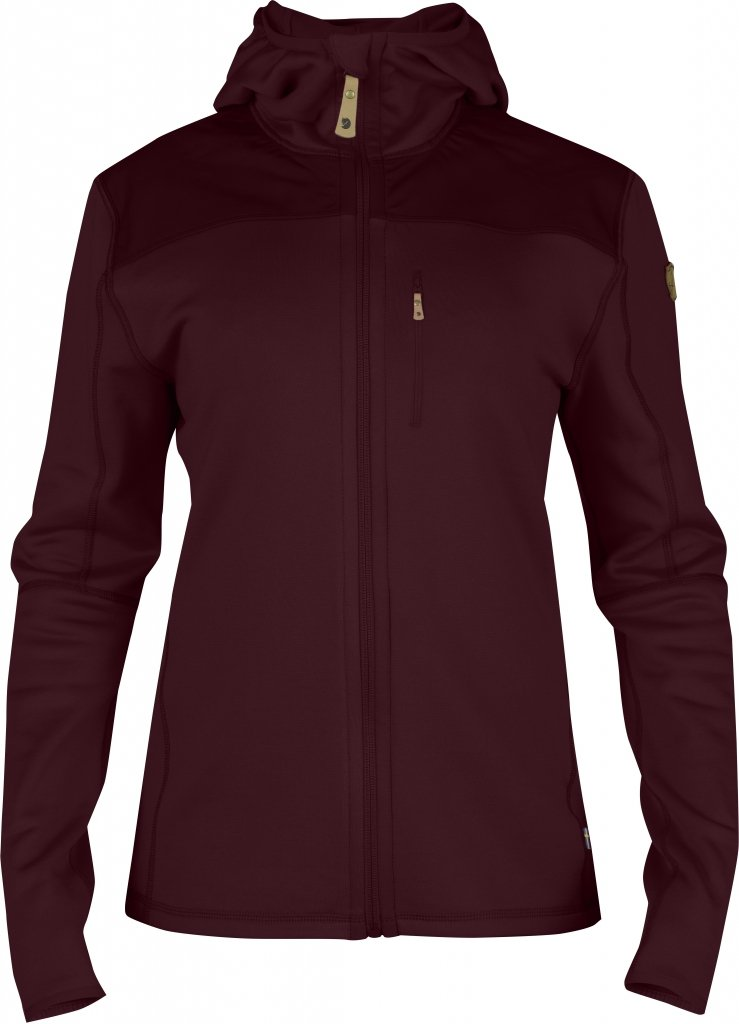 FjallRaven Keb Fleece Jacket W. Dark Garnet-30