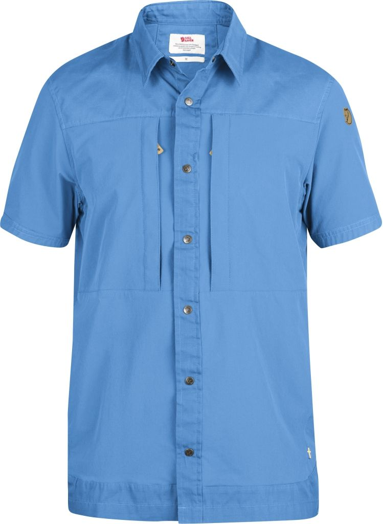 FjallRaven Keb Trek Shirt SS UN Blue-30