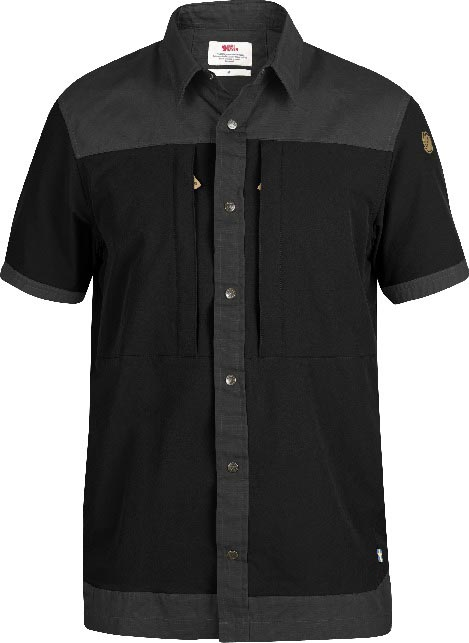 FjallRaven Keb Trek Shirt SS Black-30
