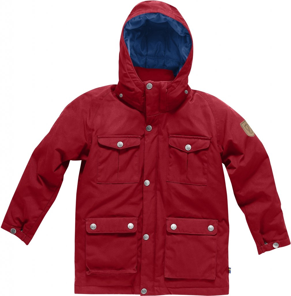 FjallRaven Kids Greenland Down Parka Deep Red-30