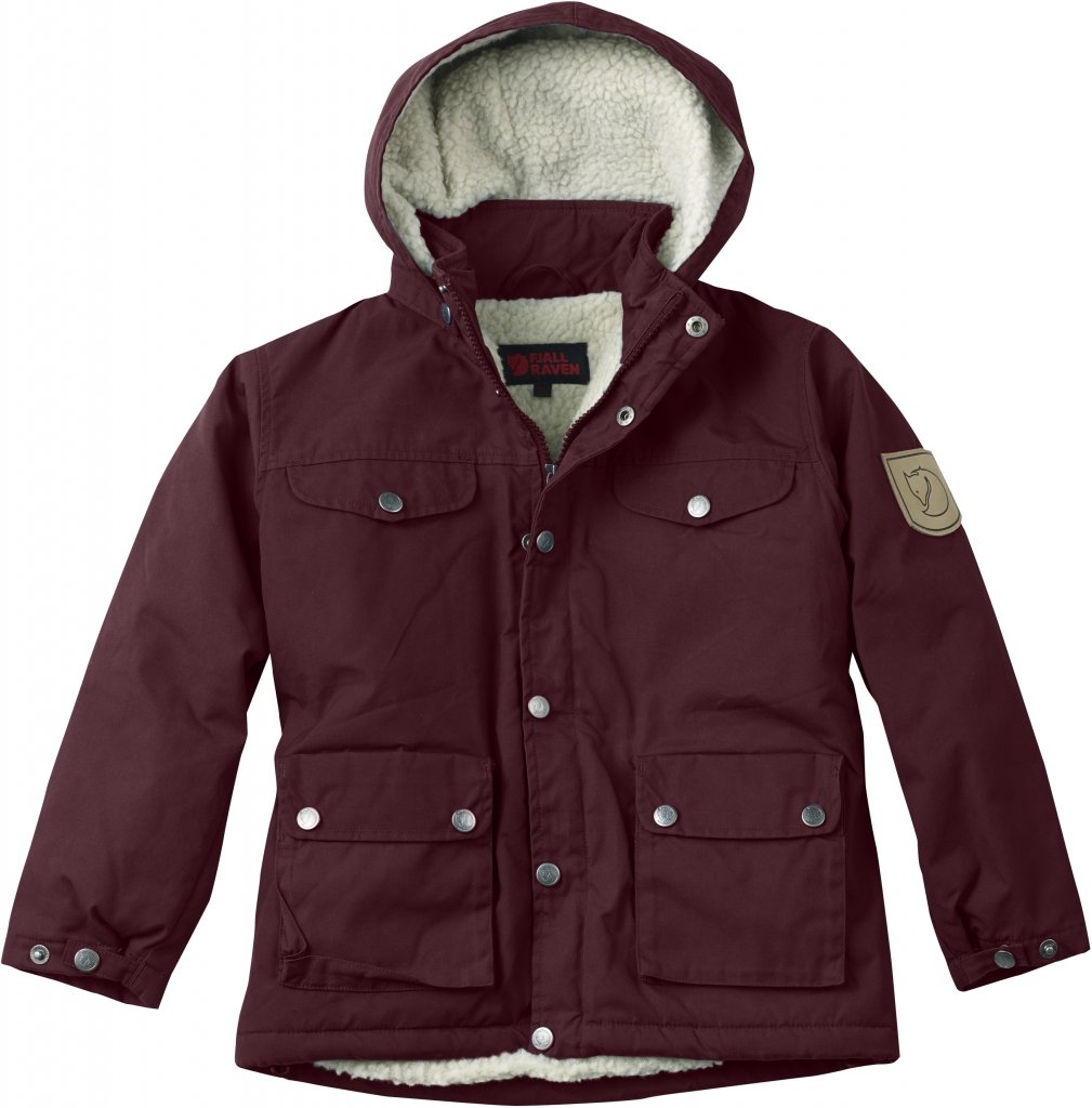 FjallRaven Kid's Greenland Winter Jacket Dark Garnet-30