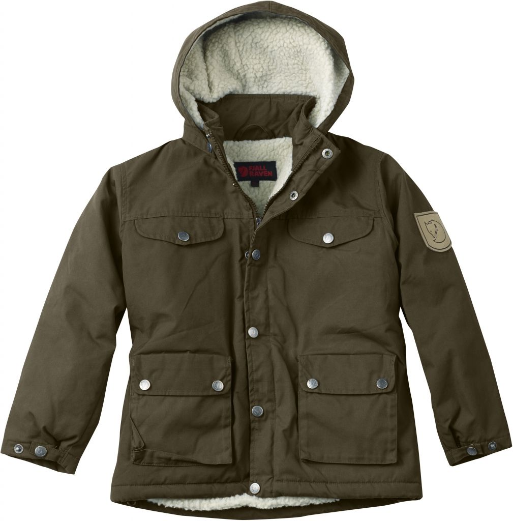 FjallRaven Kid's Greenland Winter Jacket Dark Olive-30