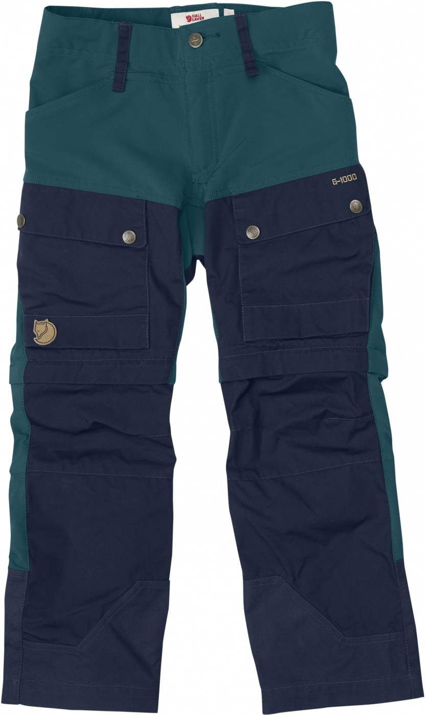 FjallRaven Kids Keb Gaiter Trousers Glacier Green-Dark Navy-30