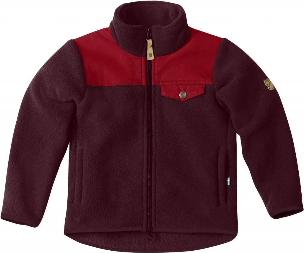 FjallRaven Kids Sarek Fleece Jacket Dark Garnet-30
