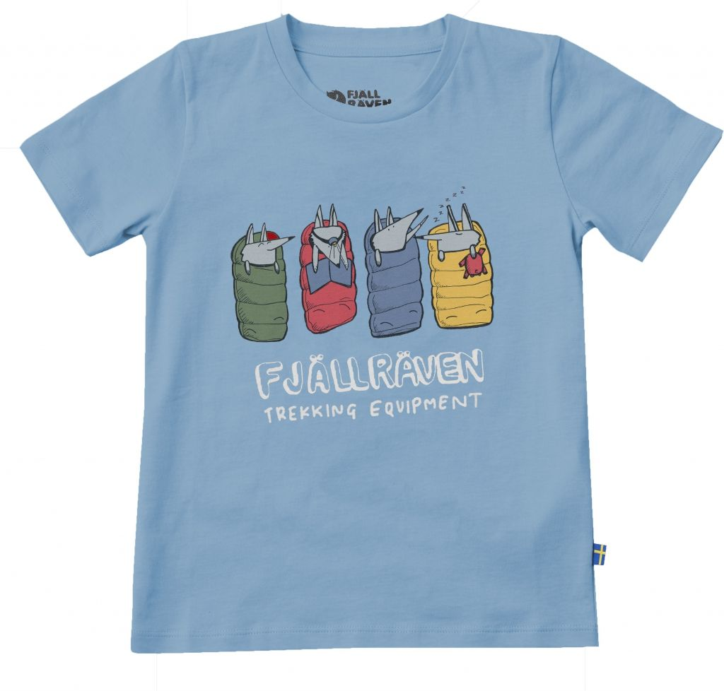 FjallRaven Kids Sleeping Foxes T-shirt Bluebird-30