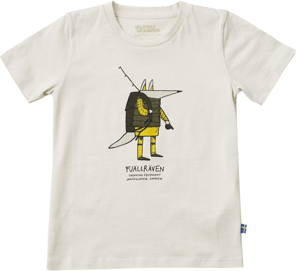 FjallRaven Kids Trekking Fox T-shirt Chalk White-30