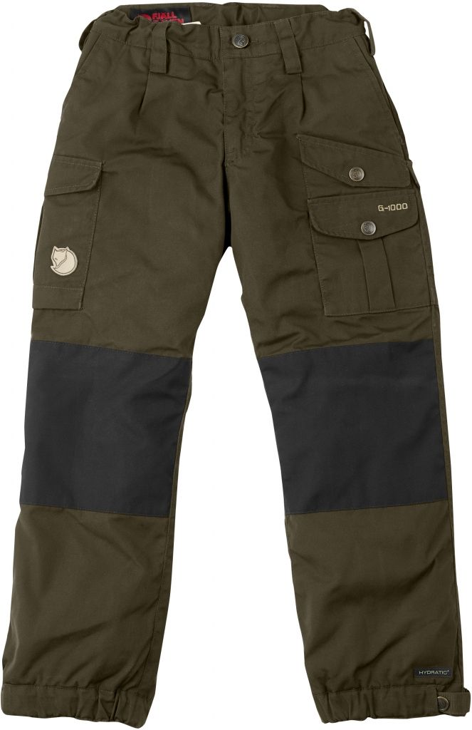 FjallRaven Kid's Vidda Padded Trousers Dark Olive-30