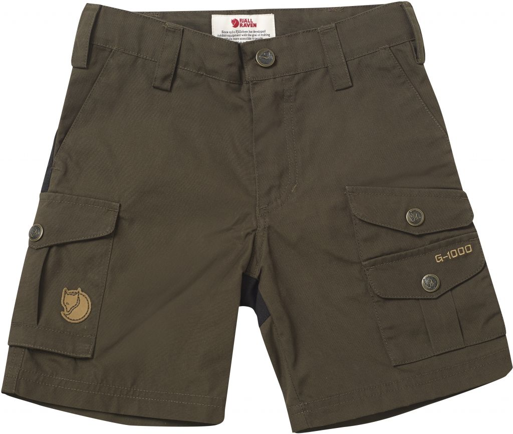 FjallRaven Kids Vidda Shorts Dark Olive-30