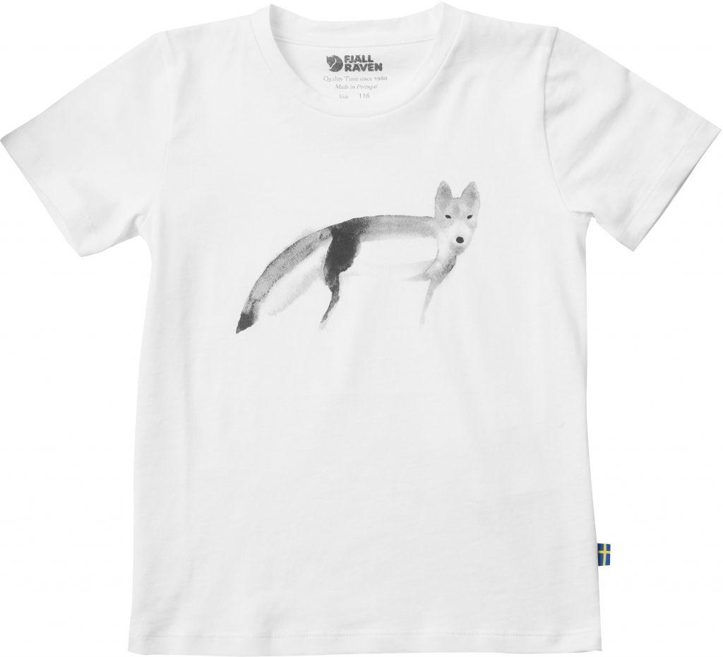 FjallRaven Black/White Fox Kids T-shirt White-30