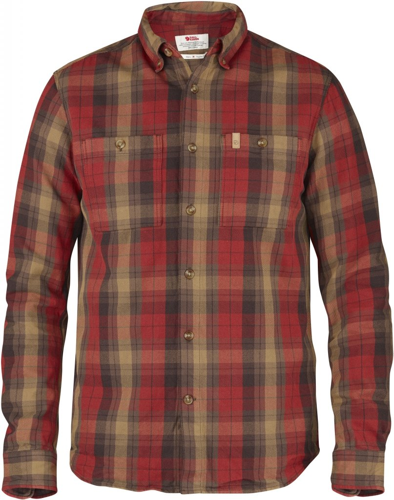 FjallRaven Kiruna Heavy Twill Shirt LS Deep Red-30