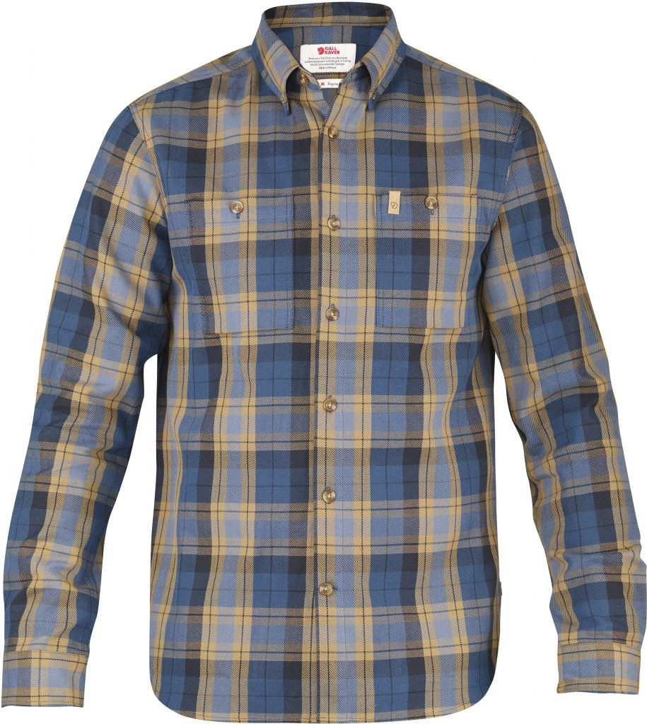 FjallRaven Kiruna Heavy Twill Shirt LS Uncle Blue-30