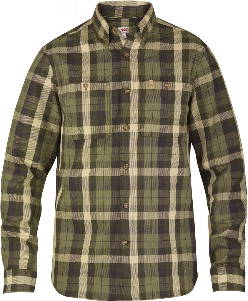 FjallRaven Kiruna Heavy Twill Shirt LS New Moss-30