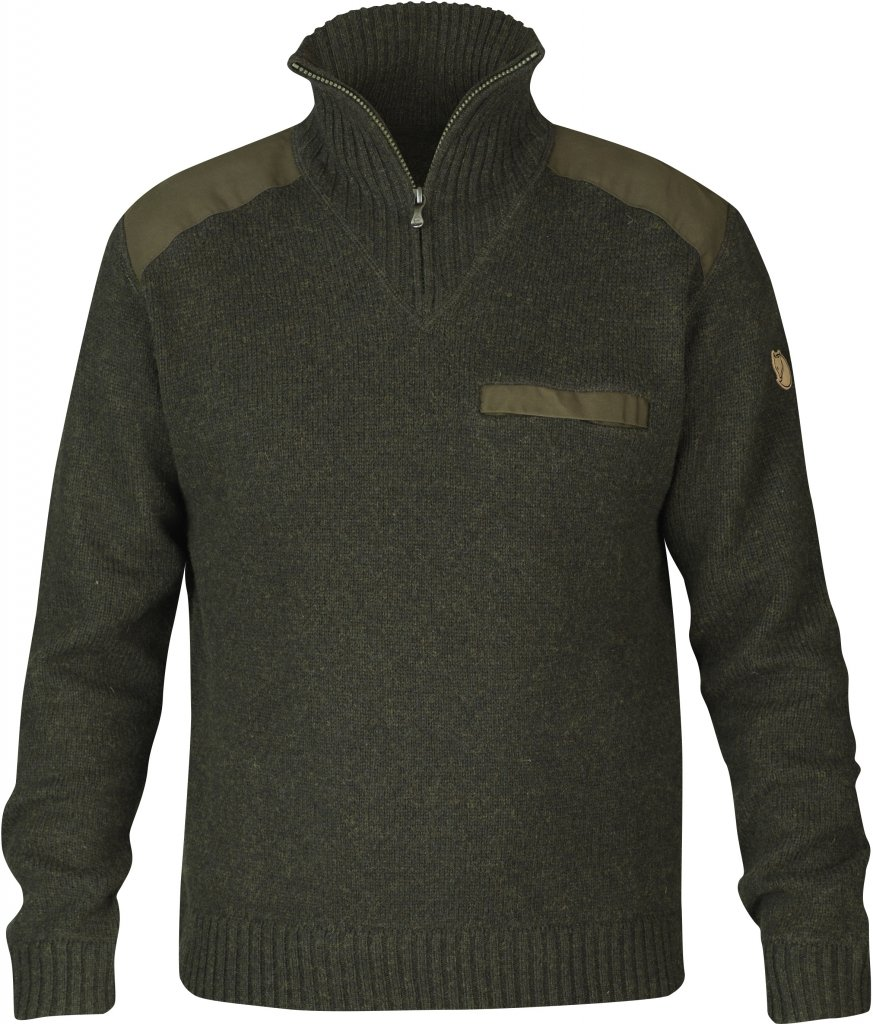FjallRaven Koster Sweater Dark Olive-30