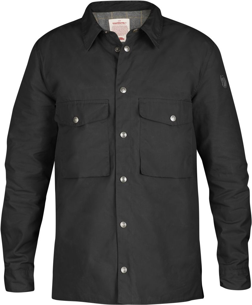 FjallRaven Lined Shirt No. 1 Dark Grey-30