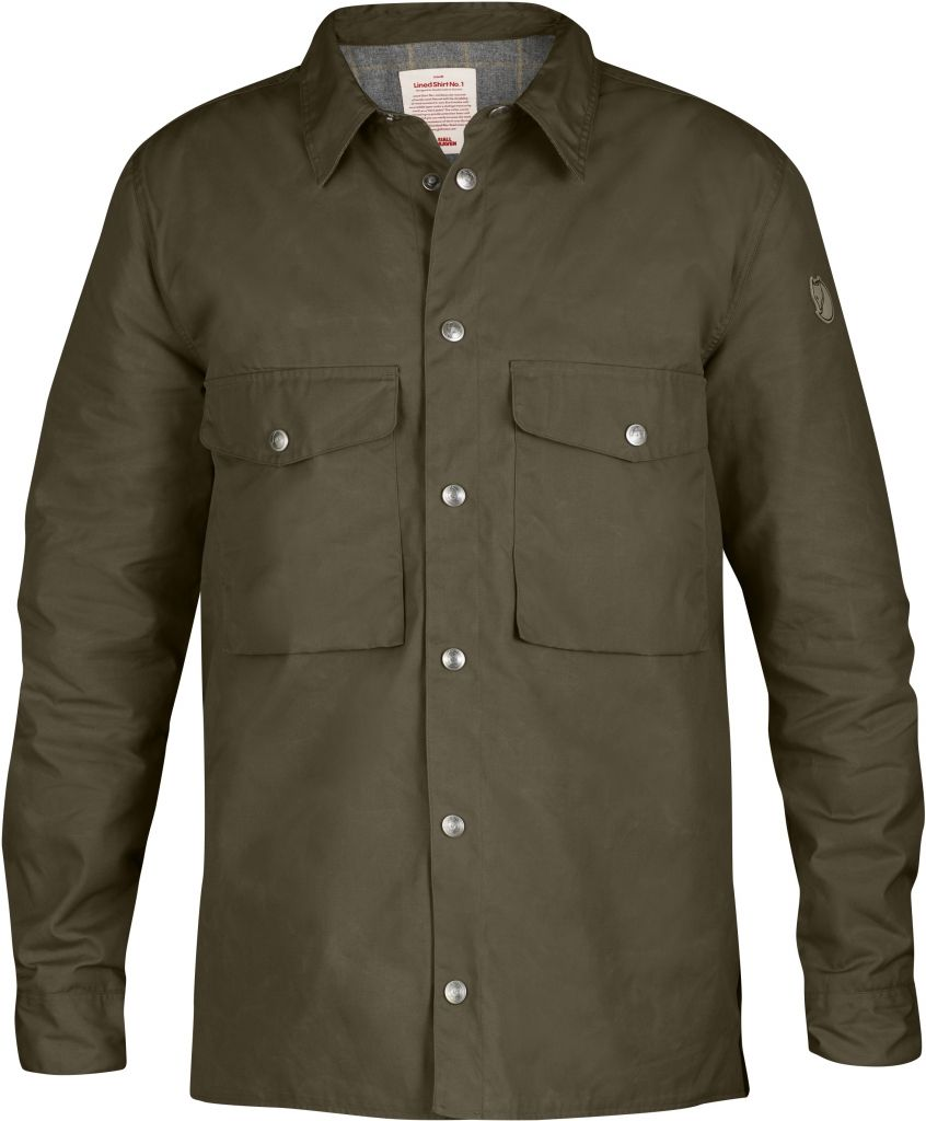 FjallRaven Lined Shirt No. 1 Dark Olive-30