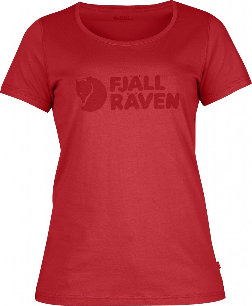 FjallRaven - Logo T-Shirt W. Neon Red - T-Shirts -