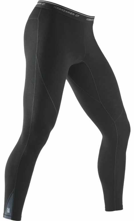 Icebreaker Sprint Leggings Black/Monsoon-30