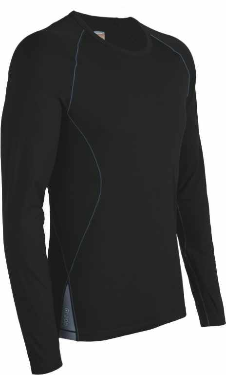 Icebreaker Sprint LS Crewe Black/Monsoon-30