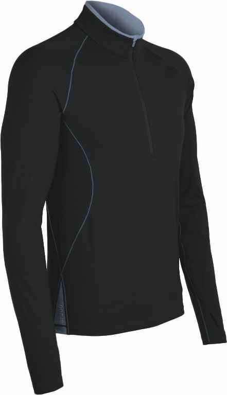 Icebreaker Sprint LS Half Zip Black/Monsoon-30