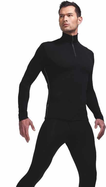 Icebreaker Anatomica LS Half Zip Black-30