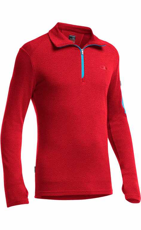 Icebreaker Apex LS Half Zip Mountain Icon Rocket/Aegean-30