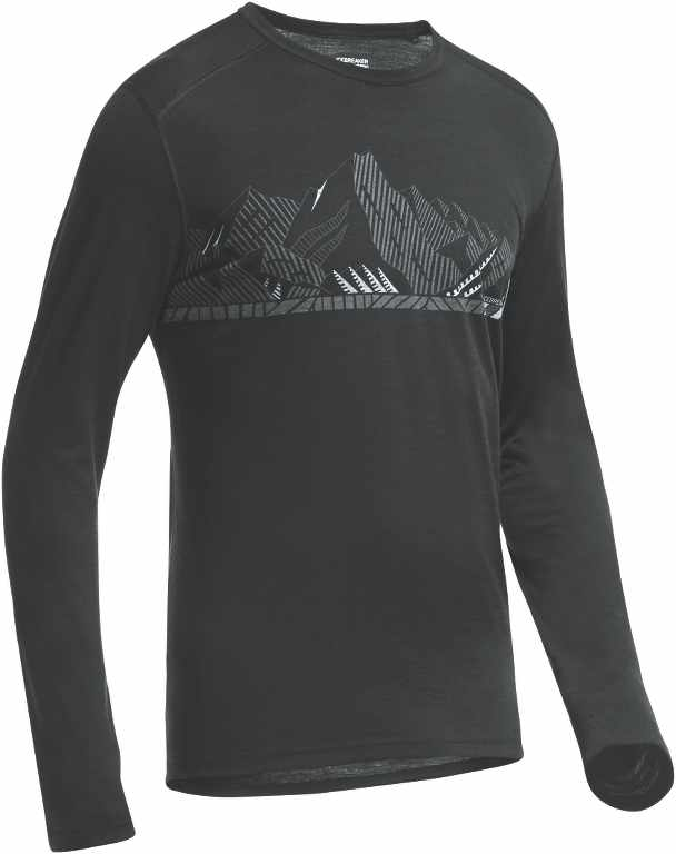 Icebreaker Oasis LS Crewe Winter Alps Black/Black-30