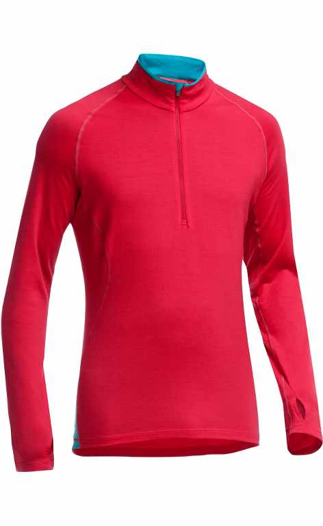 Icebreaker Pursuit LS Half Zip Rocket/Aegean-30